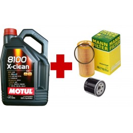 MOTUL 8100 X-CLEAN+ 5W40 5 литра