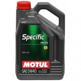 MOTUL 5w40 LPG / CNG - Газ/Метан 5 литра