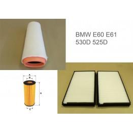 Комплект филтри за BMW E60/E61 530 D / 525 D