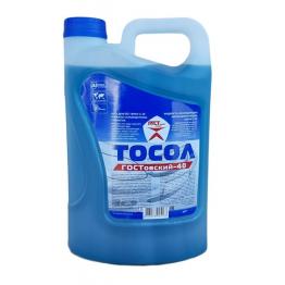 Антифриз ТОСОЛ -40 градуса  -5 литра руски -син