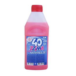 Антифриз Zzima -40 градуса G12 - червен 1 литър