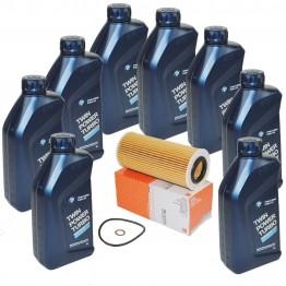 8 литра масло и маслен филтър KNECHT BMW E60 дизел